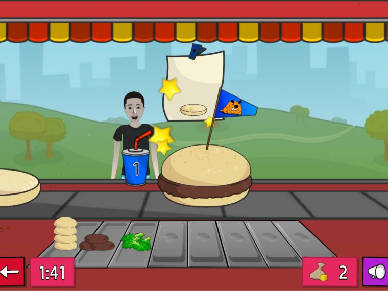 Chef game - a burger on a conveyer belt